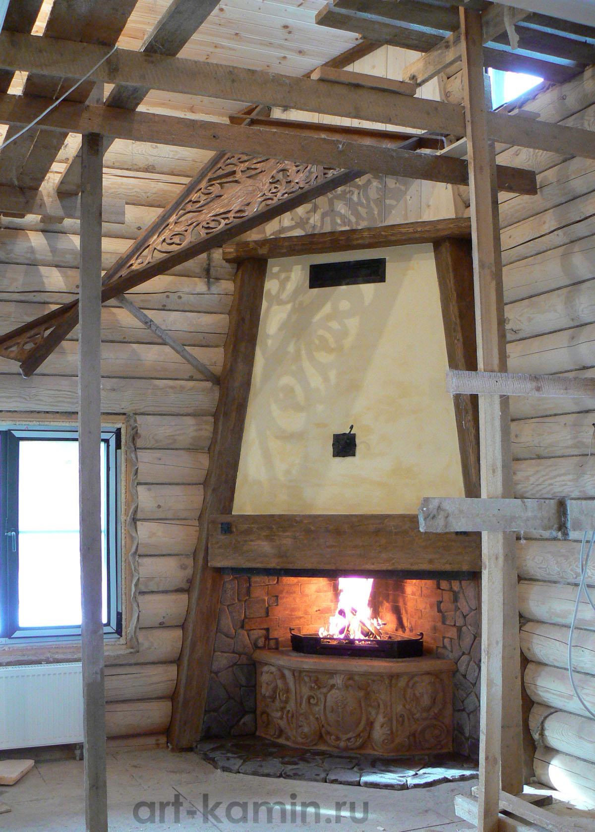 Варианты каминов для деревянного дома по типам топлива 55