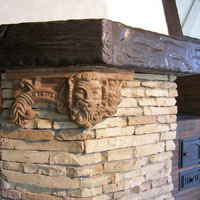 Печь камин мангал Грюнвальд